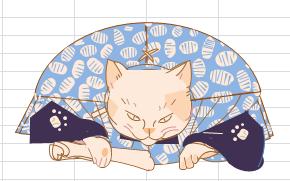 Excelで描いた猫のイラスト