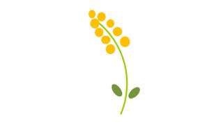 図形で描ける簡単可愛い黄色い花