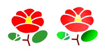 エクセルで描く花のイラスト