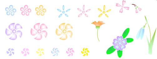 Wordで描いた花のイラスト