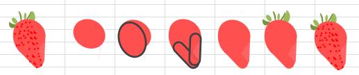 Excelイラスト イチゴの描き方