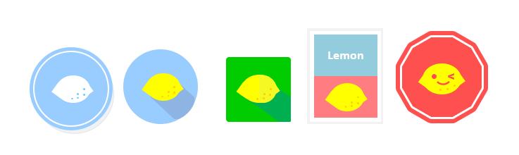 フラットデザイン レモン