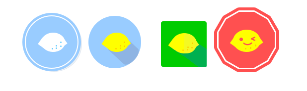 Excelイラスト フラットデザイン レモン