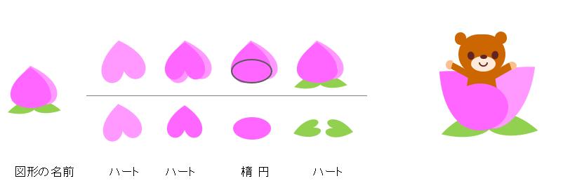 Excel絵 桃の描き方