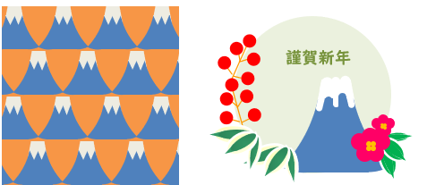 Excelで描く富士山のイラスト