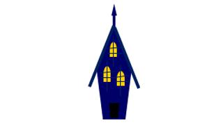 簡単ハロウィンの家イラスト