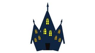 図形で描く簡単イラスト お城